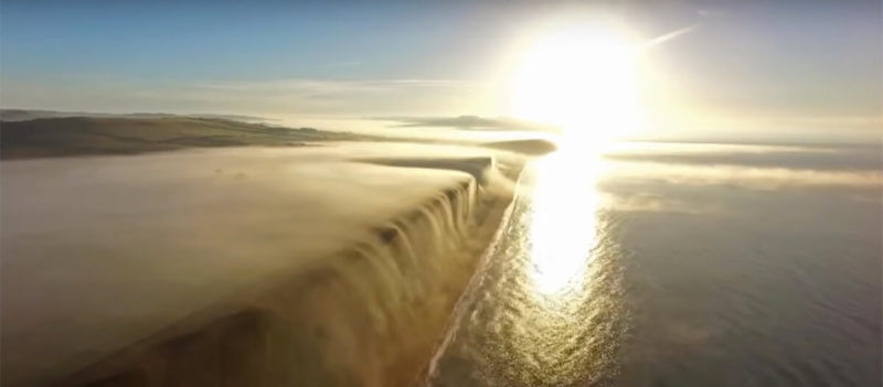fog drone timelapse
