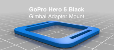 GoPro Hero 5 Gimbal Adapter Mount