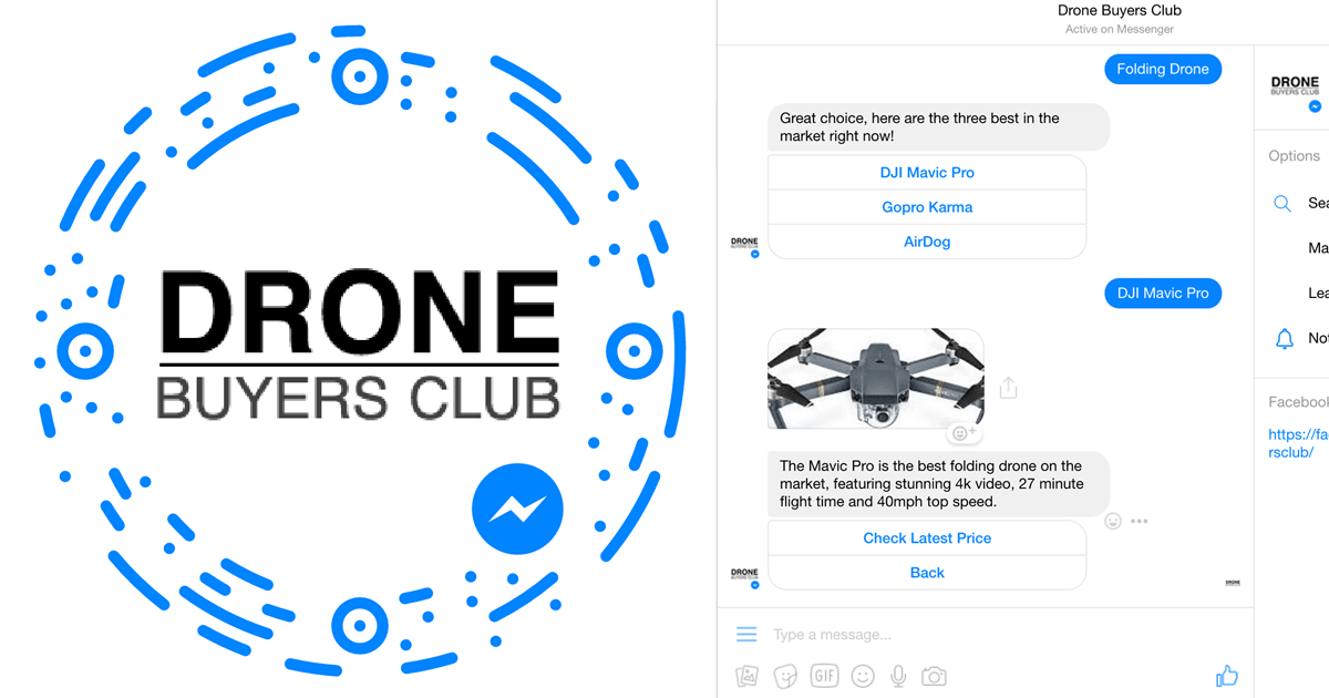 Drone Buyers Bot | Facebook Bot