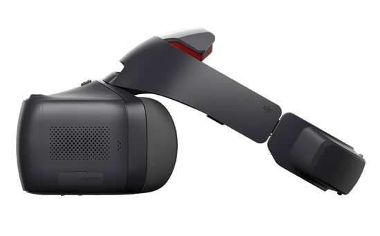 DJI Racing Goggles Side View