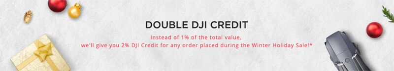 DJI Winter Holiday Sale Double Points