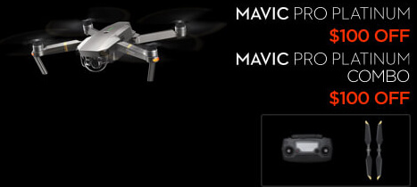 DJI Mavic Pro Platinum Black Friday Drone Deal