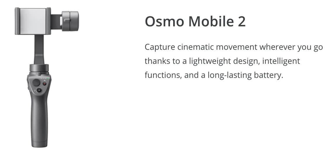 DJI Osmo Mobile 2 Winter Drone Deal